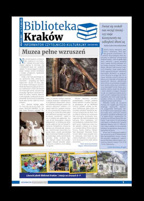 Informator Biblioteki Kraków VII-VIII 2021