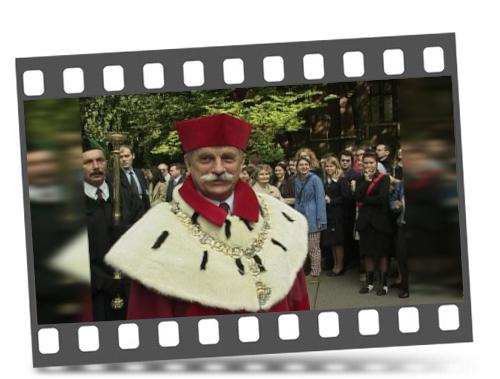 """Kadr zfilmu """"Franciszek Ziejka – rektor natrudne czasy"""""""