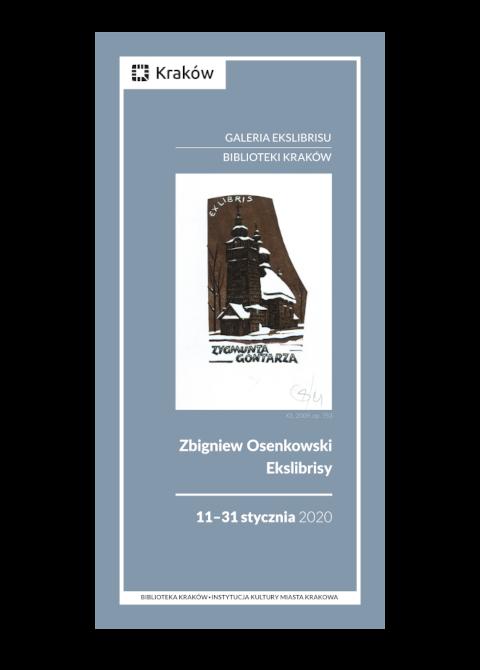 """Okładka katalogu """"Zbigniew Osenkowski. Ekslibrisy"""""""